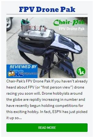 Walk Through The Evolution of Chair-Pak FPV Drone Pak Conceptualization