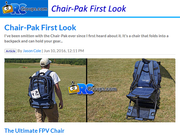 Chair-Pak First Look by RCGroups.com