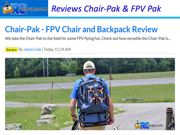 Chair-Pak & FPV Pak Reviewed by RCgroups.com
