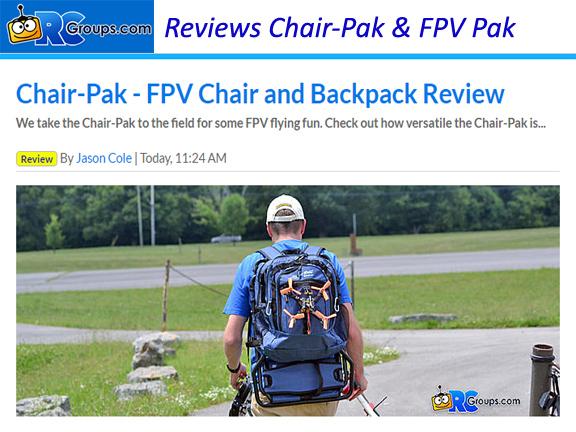Chair-Pak & FPV Pak Reviewed by RCgroups.com